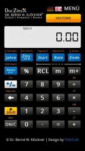 DOCZINS® Finanztaschenrechner